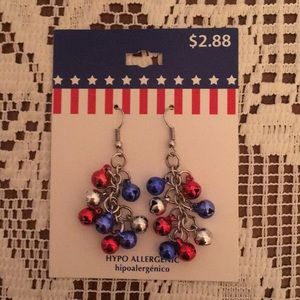 Jewelry - Patriotic bell earrings